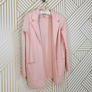 NWT Magaschoni Pink Blazer Sweater